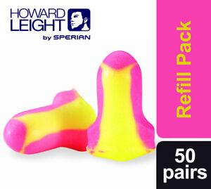 100 Ear Plugs Howard Leight Laser Lite Loose Packed (50 Pairs)