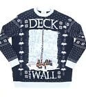 Game Of Thrones Mens Deck The Walls Ugly Christmas Sweater Blue Size XXL