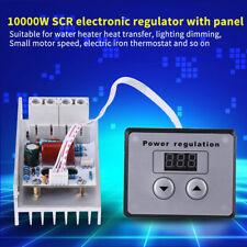10000W SCR Regulador Voltaje Controlador de Velocidad Termostato AC 220V + Panel