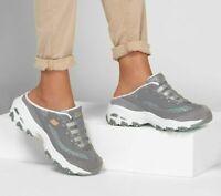 D'lite Skechers Shoes Gray Women Clog Slip On Comfort Sandal Memory Foam 149059