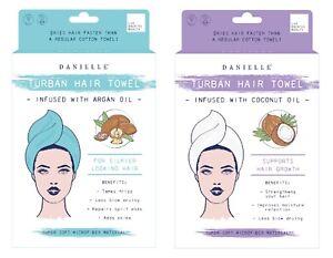 Oil Infused Turban Hair Towel ~ Coconut or Argan Oil