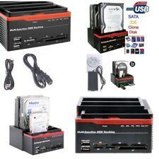 DOCKING STATION TRIPLO 3 HARD DISK HDD USB 2.0 MULTIFUNZIONE CARD SATA IDE S-ATA