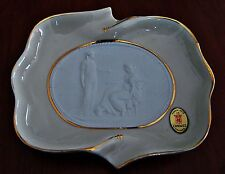 LIMOGES - FRANCE - ASHTRAY PORCELAIN CAMEO WITH CENTRAL - POSACENERE CON CAMMEO