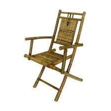 Bamboo Folding Chair Set of 2 with Arm Rest Portable Compact Directors Stool