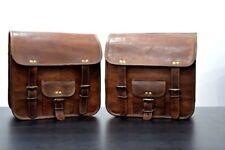 Borse laterali per borse laterali borse laterali laterali in pelle marrone tasca