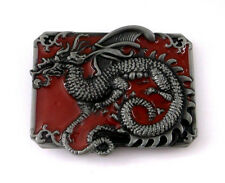 Chinese Dragon Mythology Folklore Symbol of Power Red New Belt Buckle aa