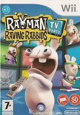 NINTENDO WII RAYMAN RAVING RABBIDS TV PARTY GAME COMPLETE