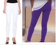 DG2 Super Stretch Denim 5-Pocket White Skinny Jegging Purple  Med  XS T