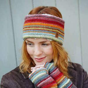 Pachamama Wool Seville Stripe Headband Fleece Lined Made in Nepal