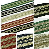 GIMP GOLD BRAID TRIM UPHOLSTERY , 22MM WIDE SOLD BY THE METRE 8 COLOURS G1