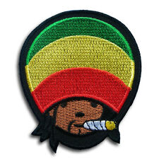 Reggae Jamaica Boy Patch Rasta Bob Marley Embroidered Hippie Rastafari Ska Skin
