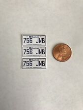 1/10 scale Quebec license plate decals for your r/c car or truck