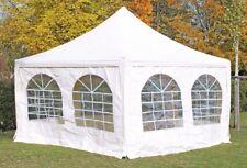 4x4 m Pavillon Partyzelt Festzelt Pagode PVC Arabica incl Seitenwände Weiß