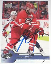 JORDAN STAAL SIGNED 16-17 UPPER DECK CAROLINA HURRICANES CARD AUTOGRAPH AUTO!!