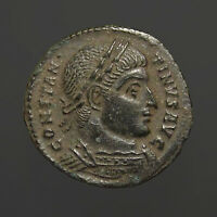 Constantine I  AE3 Bronze Campgate from Arles  Unlisted bust type