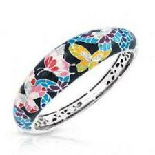 "Belle Etoile authentic 925 Butterfly kisses multi color enamel bracelet 7"" NWOT"