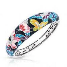 """Belle Etoile authentic 925 Butterfly kisses multi color enamel bracelet 7"""" NWOT"""