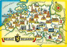 Belgium map postcard Kruger publishing