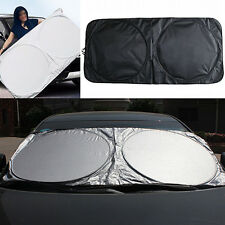 Folding Jumbo Front Car Window Sun Shade Visor Windshield Block Cover Reliable