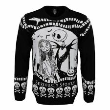 More details for unisex nightmare before christmas seriously spooky knitted jumper - xmas swater