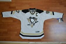 SIDNEY CROSBY + NHL PITTSBURGH PENGUINS + JERSEY + WHITE/AWAY/ROAD + LARGE