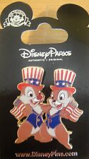 Disney Patriotic Chip and Dale - Flags and Hats  Pin - New on Card- Pin #61626