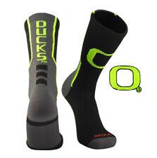 TCK® Perimeter Oregon Ducks Crew Socks Black Neon Yellow Graphite NEW! Licensed!