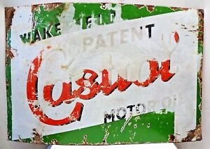 Castrol Motor Oil Wakefield Advertise Sign Porcelain Enamel Petroleum Collectib