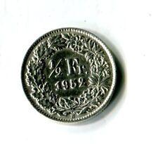 1/2 Schweizer Franken 1952 Schweiz Stehende Helvetia Silber M_1276