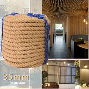 35mm Natural Brown Jute Hemp Rope Twine String Cord Shank Craft String DIY Decor