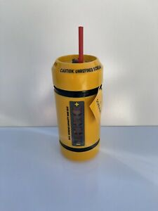 DISNEY MONSTERS, INC. SCREAM CANISTER WATER BOTTLE ~ SOUND ~ NEW IN HAND