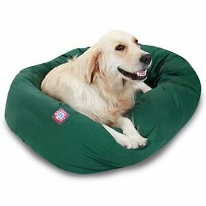 40 inch Green Bagel Dog Bed By Majestic Pet Products