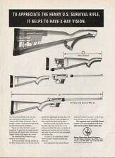 2001 Henry U.S. Survival Rifle - Vintage Gun Ad
