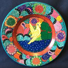 Mexique assiette colorée oiseau terre cuite peinte vernissée Amérique du sud