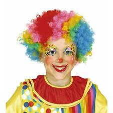 Kids Multicoloured Curly Afro CLOWN WIG Circus Boys Girls Fancy Dress