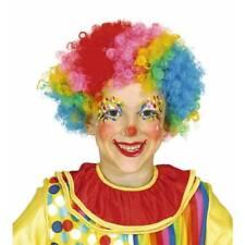 Infantil Multicolor Rizado Afro Peluca de Payaso Circo Disfraz Infantil