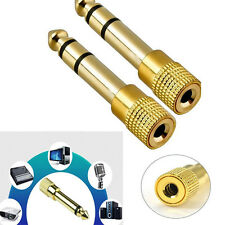 2XMonster 6.5mm 1/4 Male to 3.5mm 1/8 Female Stereo Audio Mic Plug Adapter Jack#