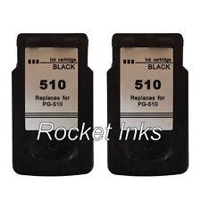 2x PG-510 Black Ink Cartridges For Canon PIXMA MP270 MP272 Printer