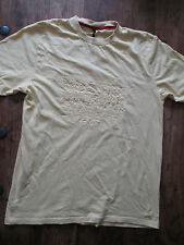 MENS PALE YELLOW TEDDY SMITH SHORT SLEEVE T SHIRT SIZE XL EXTRA LARGE