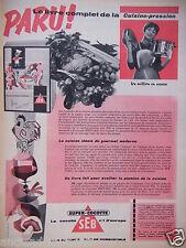 PUBLICITÉ 1958 SUPER-COCOTTE SEB N°1 D'EUROPE GAIN DE TEMPS - ADVERTISING