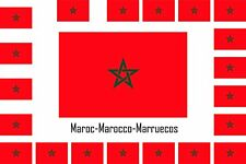 Assortiment de 25 autocollants Vinyle stickers drapeau Maroc-Marocco-Marrueco
