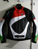 Ducati Motorcycle Racing Leather Jacket All Size Available USA Free Shipping