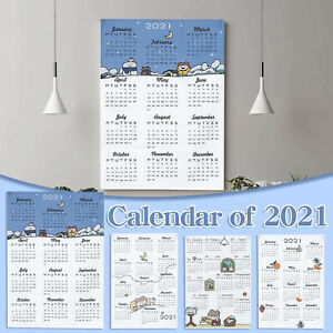 2021 Simple Calendar Tapestry Boy Girl Bedroom BackgroundCloth Wall Decorations