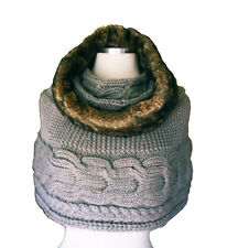 Winter Casual  Chunky Thick Knitted Fashion Winter  Headwrap Loop Scarf-L.Gray