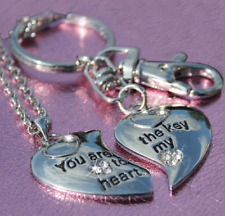 Key Ring Xmas Gifts For Her Wife Him His & Hers Key To My Heart Couples Necklace