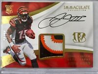JOHN ROSS 2017 Panini Immaculate OC AUTO Rookie RPA 3 Color Patch #7/99 Bengals