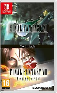 Final Fantasy VII and Final Fantasy VIII Remastered - Twin Pack Switch NEW