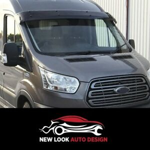 FORD TRANSIT 2002-2006 MK7 Sun Visor and Bug Guard Solid Black Acrylic