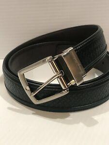 Tommy Bahama Reversible Black Brown Leather Belt L 38 40