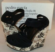PEDRO GARCIA Carlota Leather and Suede Wedge Sandals Size 40 NIB Spain